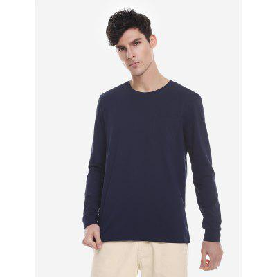 Crew Neck Long Sleeve T Shirt