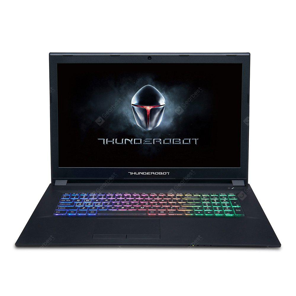 Gearbest ThundeRobot GX97 Gaming Laptop - BLACK ENGLISH KEYBOARD 17.3 inch Intel Core i7-7700HQ NVIDIA GeForce GTX 1050 Ti