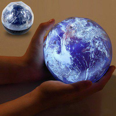 Smart Rotating LED Night Light Projection Lamp