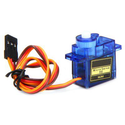 SG90S Micro Analog Servo Gear 9g with Cross Arm for RC Models Biped RoboticsRC Car Parts<br>SG90S Micro Analog Servo Gear 9g with Cross Arm for RC Models Biped Robotics<br><br>Package Contents: 1 x SG90 Micro Analog Servo Gear for RC Models Robotics, 1 x Cross Arm<br>Package Size(L x W x H): 13.00 x 9.00 x 4.20 cm / 5.12 x 3.54 x 1.65 inches<br>Package weight: 0.0650 kg<br>Product Size(L x W x H): 3.50 x 3.00 x 1.20 cm / 1.38 x 1.18 x 0.47 inches<br>Product weight: 0.0090 kg<br>Type: Analog Servo