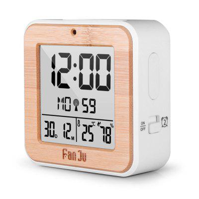 FanJu FJ3533 LCD Digital Alarm ClockClocks<br>FanJu FJ3533 LCD Digital Alarm Clock<br><br>Battery Quantity: 2<br>Battery Type: AA<br>Brand: FanJu<br>Color: Others<br>Material: Plastic<br>Model: FJ3533WOOD<br>Package Contents: 1 x LCD Digital Alarm Clock,1 x User Manual<br>Package Quantity: 1<br>Package size (L x W x H): 10.00 x 5.00 x 10.00 cm / 3.94 x 1.97 x 3.94 inches<br>Package weight: 0.1180 kg<br>Product size (L x W x H): 9.00 x 4.00 x 9.00 cm / 3.54 x 1.57 x 3.54 inches<br>Shape: Rectangular<br>Style: Fashion<br>Theme: Others<br>Time Display: Digital<br>Type: Alarm Clock