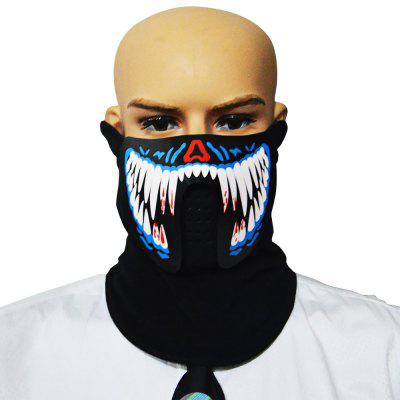 LED Face Mask with Voice-controlled Design for Sports / Party