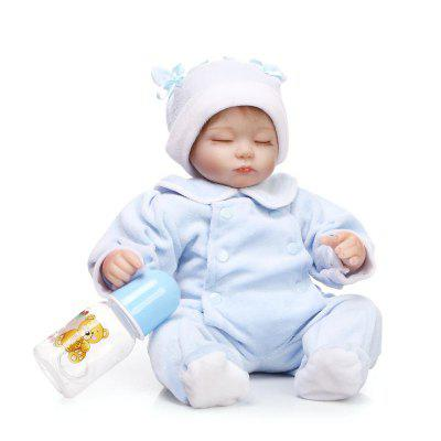 Soft Silicone Cute Vivid Reborn Baby Doll Puzzle ToyStuffed Cartoon Toys<br>Soft Silicone Cute Vivid Reborn Baby Doll Puzzle Toy<br><br>Features: Sleep Helping, Soft<br>Materials: Silica Gel<br>Package Contents: 1 x Doll Toy, 1 x Nipple, 1 x Bottle<br>Package size: 21.50 x 14.50 x 41.50 cm / 8.46 x 5.71 x 16.34 inches<br>Package weight: 1.5000 kg<br>Product size: 40.00 x 20.00 x 12.00 cm / 15.75 x 7.87 x 4.72 inches<br>Product weight: 1.2000 kg<br>Series: Reborn Doll<br>Theme: Baby Doll