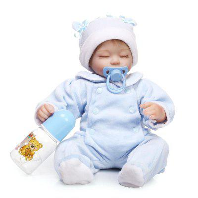 Soft Silicone Cute Vivid Reborn Baby Doll Puzzle Toy
