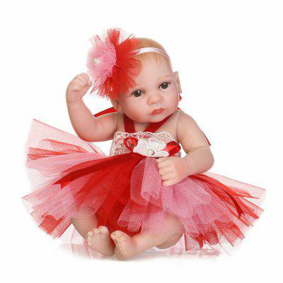 Soft Silicone Reborn Baby Doll Toy for Christmas Gift