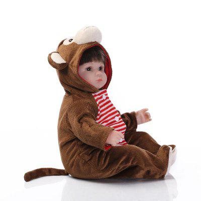 Dummy Baby Monkey Style Doll ToyStuffed Cartoon Toys<br>Dummy Baby Monkey Style Doll Toy<br><br>Features: Soft<br>Materials: Silica Gel<br>Package Contents: 1 x Doll Toy, 1 x Nipple<br>Package size: 21.50 x 14.50 x 41.50 cm / 8.46 x 5.71 x 16.34 inches<br>Package weight: 1.5000 kg<br>Product size: 40.00 x 24.00 x 12.00 cm / 15.75 x 9.45 x 4.72 inches<br>Product weight: 1.2000 kg<br>Series: Reborn Doll<br>Theme: Baby Doll