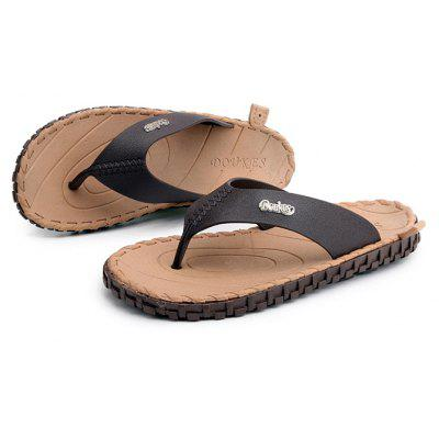 Leisure Skid-proof Wearable Flip FlopsMens Slippers<br>Leisure Skid-proof Wearable Flip Flops<br><br>Contents: 1 x Pair of Shoes<br>Materials: Rubber<br>Occasion: Beach, Casual<br>Package Size ( L x W x H ): 28.00 x 12.00 x 6.00 cm / 11.02 x 4.72 x 2.36 inches<br>Package weight: 0.4200 kg<br>Product weight: 0.4000 kg<br>Seasons: Summer<br>Style: Casual<br>Type: Slippers