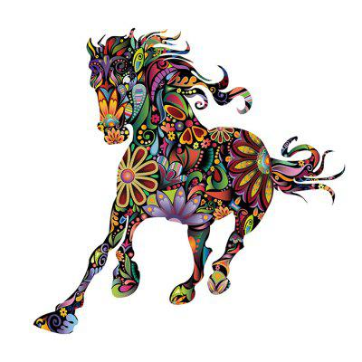 Creative DIY Removable Colorful Horse Wall Sticker WallpaperWall Stickers<br>Creative DIY Removable Colorful Horse Wall Sticker Wallpaper<br><br>Function: Decorative Wall Sticker<br>Material: Vinyl(PVC)<br>Package Contents: 1 x Wall Sticker<br>Package size (L x W x H): 61.00 x 5.00 x 5.00 cm / 24.02 x 1.97 x 1.97 inches<br>Package weight: 0.2200 kg<br>Product size (L x W x H): 60.00 x 90.00 x 0.20 cm / 23.62 x 35.43 x 0.08 inches<br>Product weight: 0.2000 kg<br>Quantity: 1<br>Subjects: Animal<br>Suitable Space: Bedroom,Cafes,Dining Room,Game Room,Hotel,Kids Room,Living Room<br>Type: Plane Wall Sticker