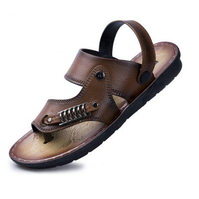 Stylish Adjustable Beach Leather SandalsMens Sandals<br>Stylish Adjustable Beach Leather Sandals<br><br>Contents: 1 x Pair of Shoes<br>Materials: PU, PUR<br>Occasion: Beach<br>Outsole Material: PUR<br>Package Size ( L x W x H ): 30.00 x 14.00 x 8.00 cm / 11.81 x 5.51 x 3.15 inches<br>Package weight: 0.5500 kg<br>Product weight: 0.5000 kg<br>Seasons: Summer<br>Style: Leisure, Casual<br>Type: Sandals<br>Upper Material: PU