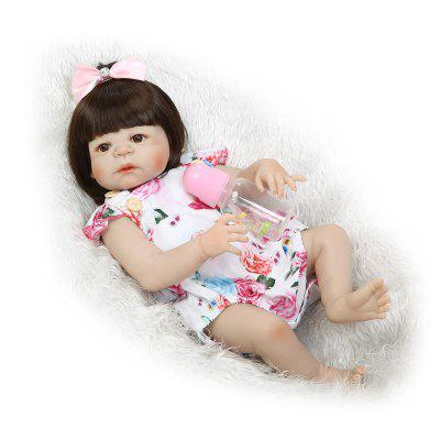 Cute Simulation Soft Silicone Victoria Reborn Baby Doll Toy