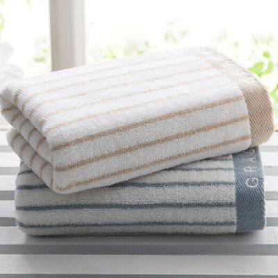grace Cotton Soft Thick Extra Absorbent Striped Towel 2PCS