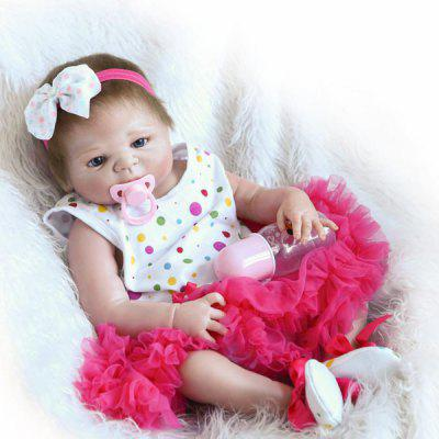 Emulate Reborn Baby Girl Doll Soft Stuffed Toy