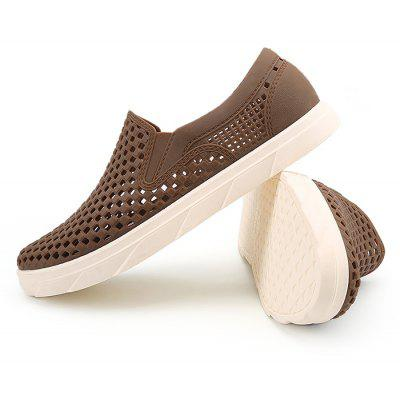 Men Stylish Anti-slip Beach Casual Hollow SandalsMens Sandals<br>Men Stylish Anti-slip Beach Casual Hollow Sandals<br><br>Closure Type: Slip-On<br>Contents: 1 x Pair of Beach Sandals, 1 x Box<br>Decoration: Hollow Out<br>Materials: Rubber, POE<br>Occasion: Beach, Casual, Daily, Rainy Day<br>Outsole Material: Rubber<br>Package Size ( L x W x H ): 30.00 x 18.00 x 10.00 cm / 11.81 x 7.09 x 3.94 inches<br>Package weight: 0.5200 kg<br>Product weight: 0.5000 kg<br>Seasons: Spring,Summer<br>Style: Leisure, Fashion, Comfortable<br>Toe Shape: Round Toe<br>Type: Sandals