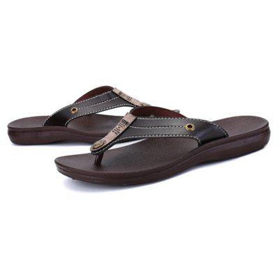 Fashion Leisure Skid-proof Flip FlopsMens Slippers<br>Fashion Leisure Skid-proof Flip Flops<br><br>Contents: 1 x Pair of Shoes<br>Materials: PU, Rubber<br>Occasion: Beach<br>Outsole Material: Rubber<br>Package Size ( L x W x H ): 28.00 x 14.00 x 8.00 cm / 11.02 x 5.51 x 3.15 inches<br>Package weight: 0.4300 kg<br>Product weight: 0.4000 kg<br>Seasons: Summer<br>Style: Leisure, Casual<br>Type: Sandals<br>Upper Material: PU