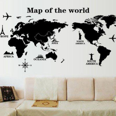 Decorative wall sticker set world map mural decals 946 online decorative wall sticker set world map mural decals gumiabroncs Images