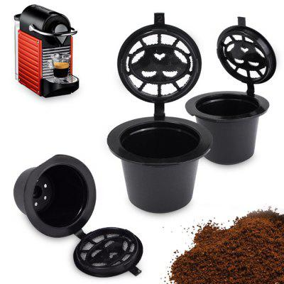 Refillable Coffee Capsule Cup Filter 3pcs - BLACK 3PCS