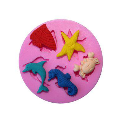 Cartoon Sea World Design Cake Mold Silicone Bakery ToolBaking &amp; Pastry Tools<br>Cartoon Sea World Design Cake Mold Silicone Bakery Tool<br><br>Material: Silicone<br>Package Contents: 1 x Cake Mold<br>Package size (L x W x H): 7.00 x 7.00 x 1.50 cm / 2.76 x 2.76 x 0.59 inches<br>Package weight: 0.0300 kg<br>Product size (L x W x H): 5.90 x 5.90 x 0.90 cm / 2.32 x 2.32 x 0.35 inches<br>Product weight: 0.0200 kg<br>Type: Bakeware