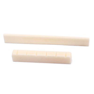 Classical Guitar Parts Bone String Bridge Saddle Nut 2pcsGuitar Parts<br>Classical Guitar Parts Bone String Bridge Saddle Nut 2pcs<br><br>Materials: Bone<br>Package Contents: 1 x Saddle, 1 x Nut<br>Package size: 8.60 x 5.90 x 0.90 cm / 3.39 x 2.32 x 0.35 inches<br>Package weight: 0.0080 kg<br>Suitable for: Guitar<br>Type: Nut, Saddle