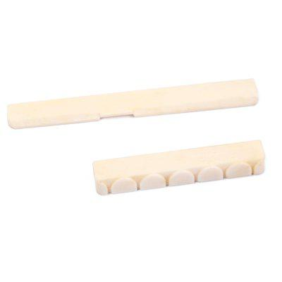 Classical Guitar Parts Bone Saddle Nut 2pcsGuitar Parts<br>Classical Guitar Parts Bone Saddle Nut 2pcs<br><br>Materials: Bone<br>Package Contents: 1 x Saddle, 1 x Nut<br>Package size: 8.60 x 5.90 x 0.90 cm / 3.39 x 2.32 x 0.35 inches<br>Package weight: 0.0082 kg<br>Suitable for: Guitar<br>Type: Nut, Saddle