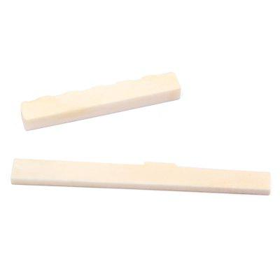 Classical Guitar Parts Bone Saddle Nut 2pcs
