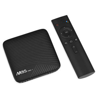 Mecool M8S PRO L 4K TV Box Amlogic S912 Bluetooth 4.1 + HSTV Box<br>Mecool M8S PRO L 4K TV Box Amlogic S912 Bluetooth 4.1 + HS<br><br>Audio format: DDP, APE, FLAC, HD, MP3, OGG, TrueHD, WAV, WMA, AAC<br>Bluetooth: Bluetooth 4.1<br>Brand: MECOOL<br>Core: Octa Core<br>CPU: ARM Cortex-A53<br>Decoder Format: H.265, H.264<br>GPU: ARM Mali-T820MP3<br>Language: English,Multi-language<br>Model: M8S PRO L<br>Other Functions: Miracast, DLNA, Airplay<br>Package Contents: 1 x TV Box, 1 x Power Adapter, 1 x Remote Control, 1 x HDMI Cable, 1 x English User Manual<br>Package size (L x W x H): 17.90 x 11.50 x 6.50 cm / 7.05 x 4.53 x 2.56 inches<br>Package weight: 0.4200 kg<br>Photo Format: GIF, BMP, TIFF, PNG, JPEG<br>Power Supply: Charge Adapter<br>Power Type: External Power Adapter Mode<br>Processor: Amlogic S912<br>Product size (L x W x H): 10.20 x 10.20 x 2.10 cm / 4.02 x 4.02 x 0.83 inches<br>Product weight: 0.1100 kg<br>RAM: 3G RAM<br>RAM Type: DDR3<br>RJ45 Port Speed: 100M<br>ROM: 32G ROM<br>System: Android 7.1<br>System Bit: 64Bit<br>Video format: WMV, ASF, AVI, DAT, FLV, H.265, 4K, ISO, MPEG1, MPEG2, MPEG4, RM, RMVB