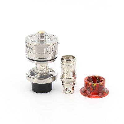 TOP AtomizerVapor Atomizers<br>TOP Atomizer<br><br>Material: Glass, Stainless Steel<br>Package Contents: 1 x Atomizer, 1 x Spare Glass, 1 x 0.5 ohm Atomizing Core, 1 x Reserve Silica Gel Ring, 1 x Resin Drip Tip, 1 x English User Manual<br>Package size (L x W x H): 11.00 x 7.00 x 3.20 cm / 4.33 x 2.76 x 1.26 inches<br>Package weight: 0.1180 kg<br>Product size (L x W x H): 2.40 x 2.40 x 4.60 cm / 0.94 x 0.94 x 1.81 inches<br>Product weight: 0.0500 kg<br>Tank Capacity: 3.5ml<br>Thread: 510<br>Type: Clearomizer