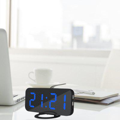 Creative LED Digital Alarm Table Clock for Home Office HotelClocks<br>Creative LED Digital Alarm Table Clock for Home Office Hotel<br><br>Material: Acrylic<br>Package Contents: 1 x LED Clock, 1 x USB Cable, 1 x English User Manual<br>Package size (L x W x H): 16.70 x 6.50 x 9.40 cm / 6.57 x 2.56 x 3.7 inches<br>Package weight: 0.2000 kg<br>Product weight: 0.1520 kg<br>Style: Modern<br>Time Display: Digital<br>Type: Table Clock