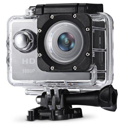 F80 1080P HD Action CameraAction Cameras<br>F80 1080P HD Action Camera<br><br>Battery Capacity (mAh): 900mAh<br>Battery Type: Built-in<br>Charge way: AC adapter,USB charge by PC<br>Charging Time: 3h<br>Image Format: JPG<br>Lens Diameter: 16.5mm<br>Max External Card Supported: TF 32G (not included)<br>Model: F80<br>Package Contents: 1 x Sports Camera with Waterproof Case, 1 x English Manual, 2 x Helmet Mount, 2 x Adhesive, 4 x Bandage, 1 x USB Cable, 1 x Frame, 1 x Bike Handlebar Mount, 2 x Adapter<br>Package size (L x W x H): 26.00 x 11.00 x 6.00 cm / 10.24 x 4.33 x 2.36 inches<br>Package weight: 0.3300 kg<br>Product size (L x W x H): 6.00 x 4.50 x 3.00 cm / 2.36 x 1.77 x 1.18 inches<br>Product weight: 0.0600 kg<br>Screen resolution: 320x240<br>Screen size: 2.0inch<br>Standby time: 80mins<br>Type: Sports Camera<br>Type of Camera: 1080P<br>Video format: AVI<br>Video Frame Rate: 30FPS<br>Video Resolution: 1080P(30fps)<br>Water Resistant: 30m ( with the waterproof case)<br>Waterproof: Yes<br>Waterproof Rating: IP68 ( with the waterproof case)<br>Wide Angle: 140 degree wide angle<br>Working Time: 60mins