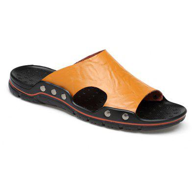 Men Casual Simple Plus Size Street SlippersMens Slippers<br>Men Casual Simple Plus Size Street Slippers<br><br>Closure Type: Slip-On<br>Contents: 1 x Pair of Shoes, 1 x Box, 1 x Dustproof Paper<br>Function: Slip Resistant<br>Materials: PU, Leather<br>Occasion: Rainy Day, Outdoor Clothing, Holiday, Daily, Casual, Beach<br>Outsole Material: PU<br>Package Size ( L x W x H ): 33.00 x 22.00 x 11.00 cm / 12.99 x 8.66 x 4.33 inches<br>Package weight: 0.7500 kg<br>Product weight: 0.6000 kg<br>Seasons: Spring,Summer<br>Style: Modern, Leisure, Fashion, Comfortable, Casual<br>Toe Shape: Open Toe<br>Type: Slippers<br>Upper Material: Leather