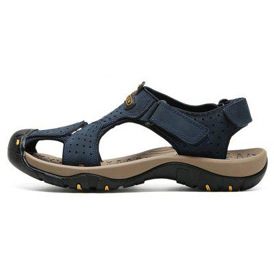 Men Leisure Anti-slip Adjustable Leather SandalsMens Sandals<br>Men Leisure Anti-slip Adjustable Leather Sandals<br><br>Closure Type: Buckle Strap<br>Contents: 1 x Pair of Sandals, 1 x Box<br>Function: Slip Resistant<br>Materials: Leather, Rubber<br>Occasion: Beach, Shopping, Rainy Day, Holiday, Daily<br>Outsole Material: Rubber<br>Package Size ( L x W x H ): 32.00 x 21.00 x 13.00 cm / 12.6 x 8.27 x 5.12 inches<br>Package weight: 0.8200 kg<br>Product weight: 0.6800 kg<br>Seasons: Summer<br>Style: Leisure, Fashion, Comfortable<br>Type: Sandals<br>Upper Material: Leather