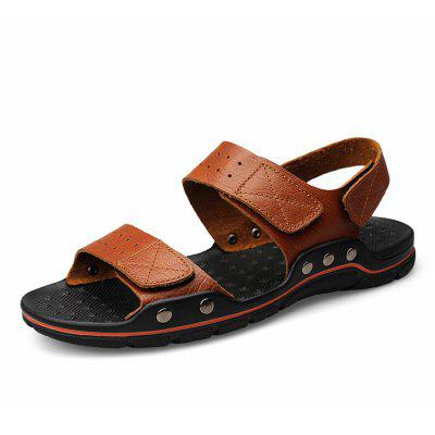 Men Classic Soft Sporty Daily SandalsMens Sandals<br>Men Classic Soft Sporty Daily Sandals<br><br>Closure Type: Buckle Strap<br>Contents: 1 x Pair of Shoes, 1 x Box, 1 x Dustproof Paper<br>Function: Slip Resistant<br>Materials: Rubber, Leather<br>Occasion: Tea Party, Shopping, Party, Outdoor Clothing, Holiday, Rainy Day, Beach, Casual, Daily<br>Outsole Material: Rubber<br>Package Size ( L x W x H ): 33.00 x 22.00 x 11.00 cm / 12.99 x 8.66 x 4.33 inches<br>Package weight: 0.7500 kg<br>Pattern Type: Solid<br>Product weight: 0.6000 kg<br>Seasons: Spring,Summer<br>Style: Modern, Leisure, Fashion, Comfortable, Casual<br>Toe Shape: Open Toe<br>Type: Sandals<br>Upper Material: Leather