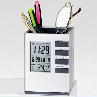 Multifunctional Voice-activated Electronic ClockClocks<br>Multifunctional Voice-activated Electronic Clock<br><br>Material: ABS<br>Package Contents: 1 x Electronic Clock<br>Package size (L x W x H): 11.00 x 9.00 x 9.00 cm / 4.33 x 3.54 x 3.54 inches<br>Package weight: 0.2500 kg<br>Product size (L x W x H): 10.70 x 8.00 x 8.00 cm / 4.21 x 3.15 x 3.15 inches<br>Product weight: 0.2300 kg<br>Time Display: Digital<br>Type: Table Clock