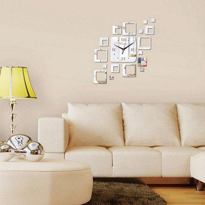 Creative Acrylic Mute Square Mirror Clock Wall StickerClocks<br>Creative Acrylic Mute Square Mirror Clock Wall Sticker<br><br>Material: Acrylic<br>Package Contents: 1 x Wall Sticker<br>Package size (L x W x H): 20.00 x 20.00 x 5.00 cm / 7.87 x 7.87 x 1.97 inches<br>Package weight: 0.2000 kg<br>Product size (L x W x H): 44.00 x 46.20 x 0.10 cm / 17.32 x 18.19 x 0.04 inches<br>Product weight: 0.1800 kg