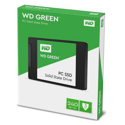 WD Green Solid State Drive 240GHDD &amp; SSD<br>WD Green Solid State Drive 240G<br><br>Brand: WD<br>Color: Green<br>Control Chip: SLC<br>External Interface: SATA 3<br>Package Size(L x W x H): 12.00 x 8.00 x 1.20 cm / 4.72 x 3.15 x 0.47 inches<br>Package weight: 0.1000 kg<br>Packing List: 1 x SSD<br>Product Size(L x W x H): 10.00 x 7.00 x 0.70 cm / 3.94 x 2.76 x 0.28 inches<br>Product weight: 0.0400 kg<br>Read Speed: 545MB/s<br>Size: 2.5 inch<br>System support: Windows 8, Mac OS, Windows, Windows 10, Windows 2000, Windows 2003, Windows 7, Windows XP, Windows Vista, Linux<br>Type: SSD