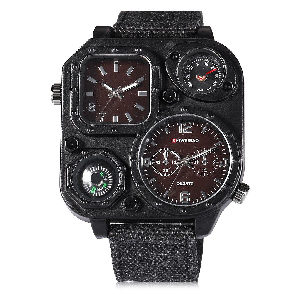 Shiweibao J1169 Compass Dual Movt Male Quartz Watch