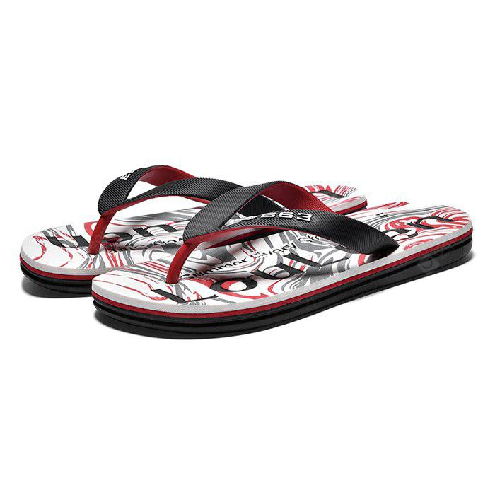 Men Flip Flops with Letters Motifs