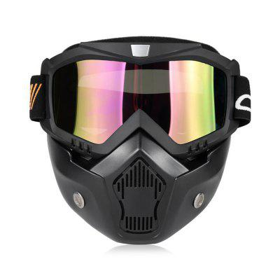 YKT - AB262 Motorcycle Mask Detachable Goggles