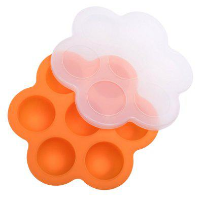 Silicone Cake Mold Ice Cube Tray Storage Container with Lid