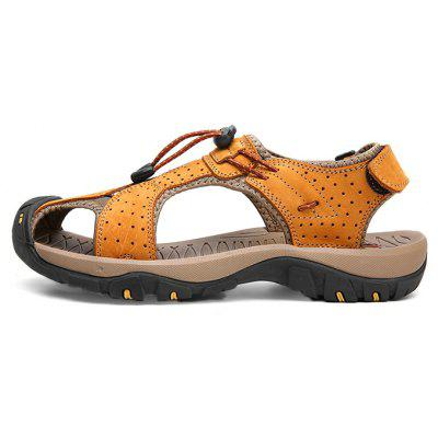 Men Trendy Anti-slip Adjustable Leather SandalsMens Sandals<br>Men Trendy Anti-slip Adjustable Leather Sandals<br><br>Closure Type: Elastic band, Buckle Strap<br>Contents: 1 x Pair of Sandals, 1 x Box<br>Function: Slip Resistant<br>Materials: Leather, Rubber<br>Occasion: Casual, Daily, Rainy Day, Beach<br>Outsole Material: Rubber<br>Package Size ( L x W x H ): 30.00 x 20.00 x 10.00 cm / 11.81 x 7.87 x 3.94 inches<br>Package weight: 0.7500 kg<br>Product weight: 0.7000 kg<br>Seasons: Summer<br>Style: Leisure, Fashion, Comfortable<br>Type: Sandals<br>Upper Material: Leather