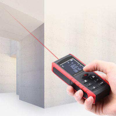 Gearbest KXL - E40 Handheld Laser Distance Meter - BLACK&RED 40m Rangefinder with Length / Area / Volume / Pythagoras Measurement