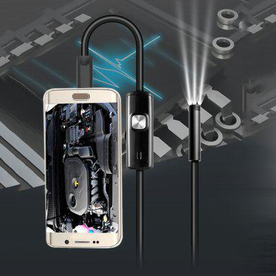 IP67 Waterproof 0.3MP Android USB Endoscope  -  BLACK