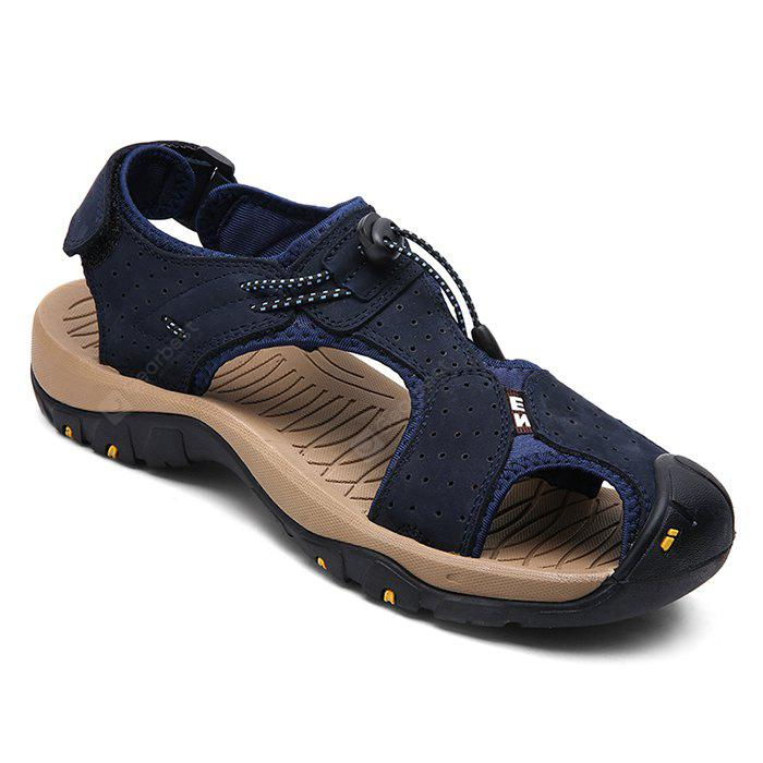 Men Trendy Anti-slip Adjustable Leather Sandals