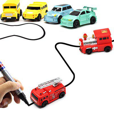 Inductive Marker Pen Line Following Car 6pcs