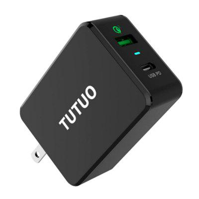 TUTUO PD - 030PT Type-C QC3.0 Multi-port Charging ChargerChargers &amp; Cables<br>TUTUO PD - 030PT Type-C QC3.0 Multi-port Charging Charger<br><br>Accessories type: Power Adapter<br>Brand: TUTUO<br>Material: ABS<br>Package Contents: 1 x Charger, 1 x English Manual<br>Package size (L x W x H): 13.00 x 8.90 x 3.50 cm / 5.12 x 3.5 x 1.38 inches<br>Package weight: 0.1510 kg<br>Product size (L x W x H): 7.10 x 3.00 x 5.07 cm / 2.8 x 1.18 x 2 inches<br>Product weight: 0.1080 kg