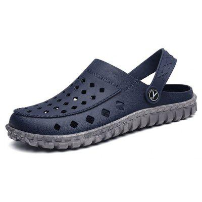 Men Simple Soft Hollow Two Wear Sandals Slippers