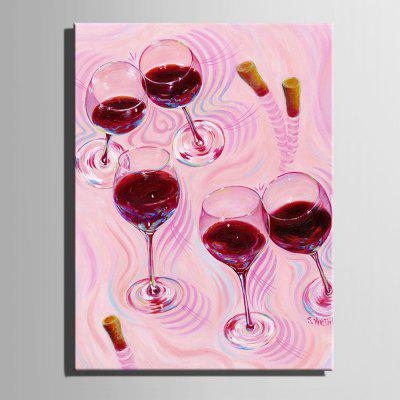 Unique Waterproof Red Wine Glass Canvas Print 1pc