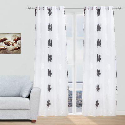 double layer curtains thick curtains doublelayer embroidered for bedroom 2pcs gearbest usa