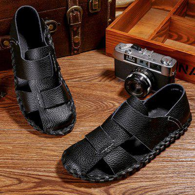 Men Unique Casual Hollow Soft Cool SandalsMens Sandals<br>Men Unique Casual Hollow Soft Cool Sandals<br><br>Closure Type: Slip-On<br>Contents: 1 x Pair of Shoes, 1 x Box<br>Decoration: Hollow Out<br>Function: Slip Resistant<br>Materials: Leather, Rubber<br>Occasion: Tea Party, Shopping, Rainy Day, Party, Outdoor Clothing, Holiday, Daily, Beach, Casual<br>Outsole Material: Rubber<br>Package Size ( L x W x H ): 32.00 x 21.00 x 13.00 cm / 12.6 x 8.27 x 5.12 inches<br>Package weight: 0.8000 kg<br>Pattern Type: Solid<br>Product weight: 0.6500 kg<br>Seasons: Spring,Summer<br>Style: Modern, Leisure, Fashion, Comfortable, Casual<br>Toe Shape: Round Toe<br>Type: Sandals<br>Upper Material: Leather