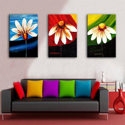 Flower Pattern Modern Painting Wall Art Print 3pcsPrints<br>Flower Pattern Modern Painting Wall Art Print 3pcs<br><br>Craft: Print<br>Form: Three Panels<br>Material: Canvas<br>Package Contents: 3 x Print<br>Package size (L x W x H): 42.00 x 30.00 x 8.00 cm / 16.54 x 11.81 x 3.15 inches<br>Package weight: 0.9000 kg<br>Painting: Include Inner Frame<br>Product weight: 0.7000 kg<br>Shape: Vertical<br>Style: Flower<br>Subjects: Flower<br>Suitable Space: Bedroom,Cafes,Corridor,Office