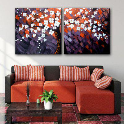 Canvas Modern Plum Blossom Design Print 2pcsPrints<br>Canvas Modern Plum Blossom Design Print 2pcs<br><br>Craft: Print<br>Form: Two Panels<br>Material: Canvas<br>Package Contents: 2 x Print<br>Package size (L x W x H): 42.00 x 42.00 x 5.50 cm / 16.54 x 16.54 x 2.17 inches<br>Package weight: 0.7000 kg<br>Painting: Include Inner Frame<br>Product weight: 0.5000 kg<br>Shape: Square<br>Style: Flower<br>Subjects: Flower<br>Suitable Space: Bedroom,Hallway,Office,Outdoor